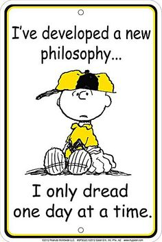 Funny Charlie Brown  | ... Developed A New Philosophy (Charlie Brown) funny aluminium sign (ga
