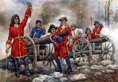 Strelets 1/72 Russian Artillery of Peter 1st The Great Northern War Plastic Wargamming Figures 0042