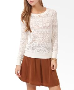 Long Sleeve Lace Top | FOREVER21 - 2030188033