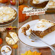 Fitness hraběnčin koláč z dýně a jablek - recept Bajola Pie, Desserts, Recipes, Food, Torte, Tailgate Desserts, Cake, Deserts, Fruit Cakes