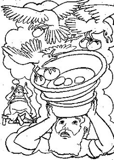 Joseph supervises the gathering and distribution of grain for Joseph in jail coloring page