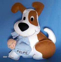 """1001 Feltros: Decoração quarto infantil tema """"cachorrinhos"""""""