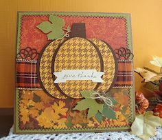 Empty Nest Crafter: WMSC#120 -Houndstooth Pumpkin