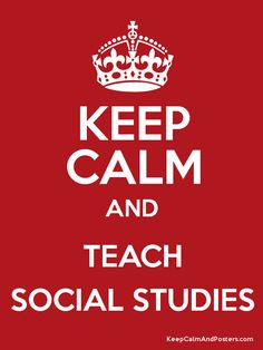 Parts of Social Studies poster...Good beginning of the year ...
