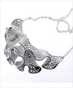 Sterling Silver 3D-Printed Medusa Necklace