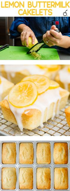 Lemon buttermilk lakelets are so easy and moist. Click through to this easy recipe and mix up your dessert routine!