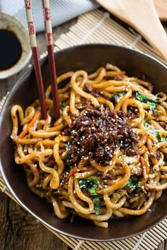 Shanghai Noodles is the perfect easy weeknight meal. Best of all, takes ONLY 20 minutes to make this authentic popular Chinese dish & better than takeout! (Use gf noodles & soy sauce) Napa Cabbage Recipes, Pork Recipes, Asian Recipes, Ethnic Recipes, Chinese Recipes, Udon Recipes, Macaroni Recipes, Noodle Recipes, Pork Chow Mein