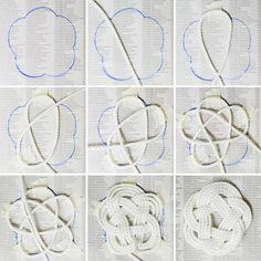 DIY Nautical Rope Coaster diy rope craft crafts easy crafts easy diy home crafts… Macrame Wall Hanging Diy, Macrame Art, Macrame Design, Macrame Projects, Macrame Knots, Rope Knots, Rope Crafts, Diy Home Crafts, Yarn Crafts