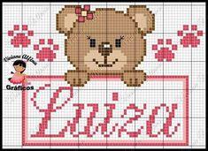 Para Luiza Cross Stitch For Kids, Cross Stitch Cards, Cute Cross Stitch, Cross Stitching, Cross Stitch Patterns, Paper Quilt, C2c Crochet, Architecture Tattoo, Knitting For Kids