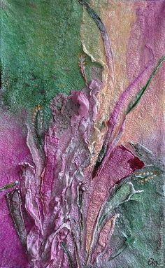 Love these colors Wet Felting Projects, Felting Tutorials, Textile Patterns, Textile Art, Fiber Art Quilts, Felt Pictures, Wool Art, Nuno Felting, Texture Design