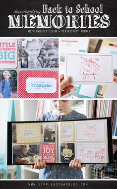 Simple ways to document your child's school memories. #BacktoSchool #ProjectLife #MemoryKeeping