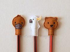 ITH Australian Wildlife Pencil Toppers - Sew Sarah Designs1