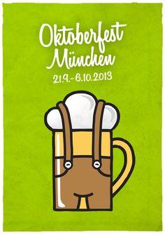 Oktoberfest poster 2013 by Filip Triner, via Behance