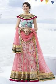 cute pink and white lehenga and crop top