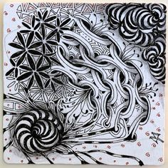Maria Thomas  Bunzo tangle  Zentangle Newsletter