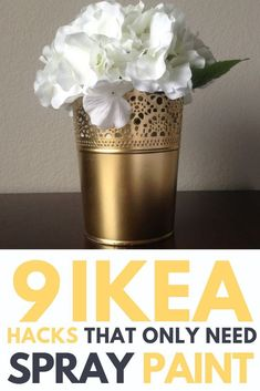 ikea furniture All you need is a bit of creativity and a can of spray paint. Check out the easiest IKEA hacks that only require paint. Give your IKEA furniture a makeover with these easy DIY projects! Bedroom Design On A Budget, Diy Home Decor On A Budget, Diy Home Decor Projects, Decorating On A Budget, Diy Craft Projects, Bedroom Ideas, Decor Ideas, Ikea Ideas, Budget Bedroom
