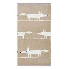 Scion Mr Fox Towels | Charcoal & Linen Hand, Bath & Guest Towels at Bedeck 1951