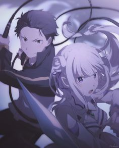 Re:Zero Subaru and Emilia
