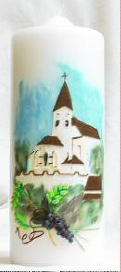 "Kerze ""Kirche"" Kirchen, Christmas Ornaments, Holiday Decor, Home Decor, Photo Illustration, Decoration Home, Room Decor, Christmas Jewelry, Interior Design"