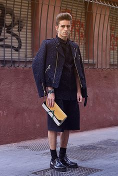 Total look Davidelfin, Givenchy earings and septum, clutch Pelayo Diaz for Davidelfin, shoes Jil Sander