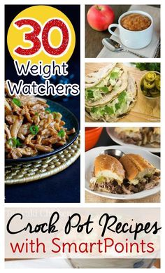 30 Weight Watchers Crock Pot Recipes with SmartPoints Counting Weight Watchers points? Try these Weight Watchers Crock Pot recipes with SmartPoints already calculated. Weight Loss Meals, Weight Watcher Dinners, Weight Watchers Points, Weight Watchers Recipes With Smartpoints, Weight Watchers Sides, Ww Recipes, Cooking Recipes, Healthy Recipes, Healthy Meals