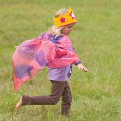 Our Fairy and Dragonfly Silk Wings are perennial favorites. They are made of pure silk, beautifully dyed, with ribbons to tie them across the chest and around the waist. As children run or pump a swing high into the air, they flow in a wave of color behind them.