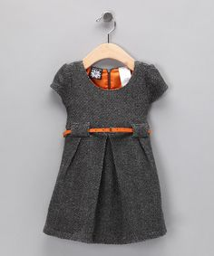 Take a look at this Gray & Orange Bouclé Dress - Infant & Toddler by Fall Forward: Girls' Apparel on #zulily today! #Fall