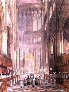 Holy Mass, Amiens Cathedral, 19th century