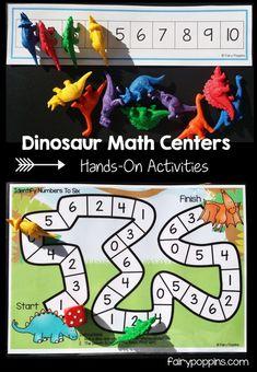 Dinosaur Math Activities (0-20) – Fairy Poppins