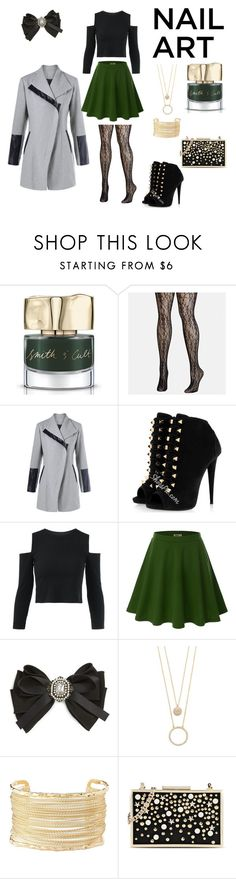 """""""Nail art"""" by haty500 ❤ liked on Polyvore featuring beauty, Smith & Cult, Avenue, Doublju, Cara, Kate Spade, Charlotte Russe and Karl Lagerfeld"""