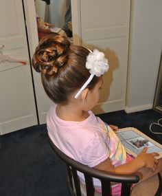 Flower girl hair, updo Hair by Christy: Simply Captivating On-Site Beauty Services, PGH, PA