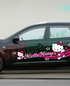 Stiker Mobil Modifikasi Hello Kitty
