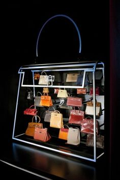 "Hermès has unveiled its ""Leather Forever"" exhibition at Mayfair gallery 6 Burlington Gardens... extremely cool and elegant display"
