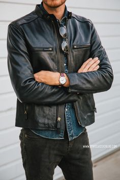 Fall must-have, gents: leather jacket.