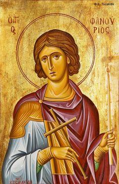 Phanourios of Rhodes - August 27 Queer Art, Religious Icons, Art Icon, Summer Is Here, Orthodox Icons, Sacred Art, Christian Faith, Saints, Greek