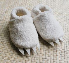 baby booties - where the wild things are