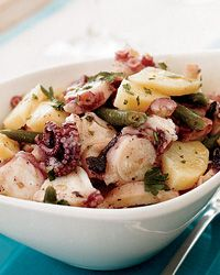Octopus Salad with Potatoes and Green Beans Recipe on Food & Wine