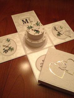 Explosion box wedding card