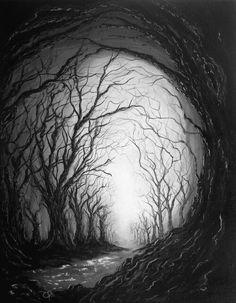 Dark dead forest