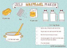 Zelf wasmiddel maken | http://www.mypinspiration.nl/zelf-wasmiddel-maken/
