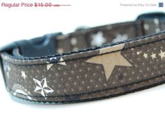 Spring Sale Custom Western Dog Collar  Wild Stars  by FreyasStudio, $12.75