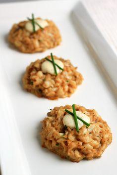 Crab cakes (egg, shallot, mayo, parsley, lump crab meat, seafood mustard sauce, old bay seasoning)
