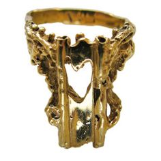 2ac29b673 Barbara Anton - Barbara Anton Gold Heart Ring, circa 1970 offered by Kimberly  Klosterman Jewelry on InCollect