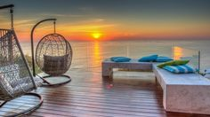 Aegea is a luxury self-catering holiday villa in Bantry Bay with 5 bedrooms. Hanging Hammock Chair, Hanging Chairs, Villas In Italy, Bedroom Retreat, Outdoor Spaces, Outdoor Decor, Vacation Villas, Luxury Villa, Summer Nights