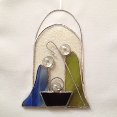 Stained Glass Ornament  Nativity by MamaAgees on Etsy, $14.00