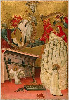 Attributed to Antonio da Viterbo the Elder: Santa Francesca Romana Clothed by the Virgin (1975.1.100) | Heilbrunn Timeline of Art History | The Metropolitan Museum of Art
