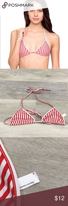 New American Apparel Triangle Bikini Top Swimwear American Apparel Triangle Bikini Top  Red White Stripe Condition: New without Tags (Never Worn) American Apparel Swim Bikinis