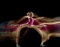 Dance long exposure photography