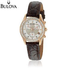 Bulova Women's Diamond Mother of Pearl Watch – Only $124.99 – Save 76%!!
