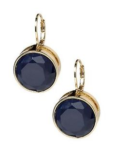 59a3691bd simple navy and gold earrings Black Stud Earrings, Round Earrings, Women's  Earrings, Fashion
